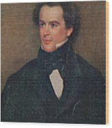 Nathaniel Hawthorne, American Author Wood Print by Photo Researchers