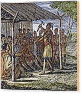 Native American Council, C1835 Wood Print