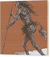 Native American Shaman Wood Print