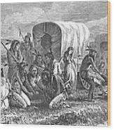 Native Americans: Gambling, 1870 Wood Print by Granger