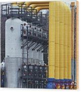 Natural Gas Compressor Station Wood Print