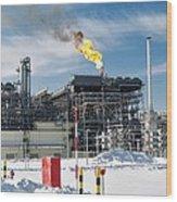 Natural Gas Liquefaction Plant Wood Print