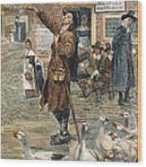 New England: Quaker, 1660 Wood Print by Granger