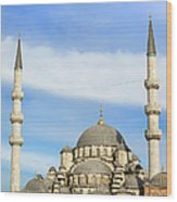 New Mosque In Istanbul Wood Print by Artur Bogacki