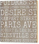 New Orleans Streets Wood Print