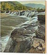 New River Waterfall Wood Print