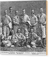 New York Baseball Team Wood Print