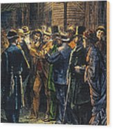 New York: Election, 1876 Wood Print by Granger