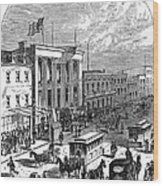 New York: The Bowery, 1871 Wood Print