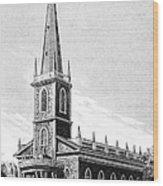 New York: Trinity Church Wood Print