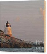 Newport Lighthouse Wood Print