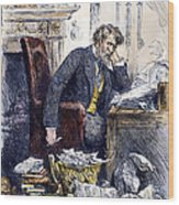 Newspaper Editor, 1880 Wood Print