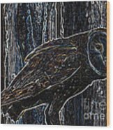 Night Owl - Digital Art Wood Print