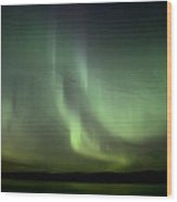 Night Shot Northern Lights Wood Print