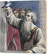 Noah Receives The Dove Wood Print