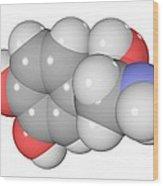 Norepinephrine Neurotransmitter Molecule Wood Print