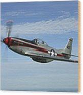 North American P-51 Cavalier Mustang Wood Print