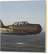 North American T-6 Texan Trainer Wood Print