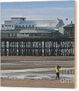North Pier Wood Print