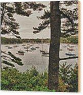 Northeast Harbor Wood Print