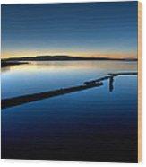 Northern Lake Evening Wood Print