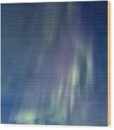 Northern Lights Over Canadian Lake Wood Print
