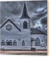 Norwegian Church Cardiff Bay Wood Print