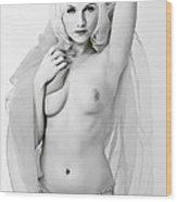 Nude Bw Wood Print