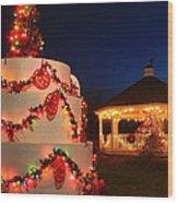 Oakham Massachusetts 250th Anniversary Holiday Lights Wood Print