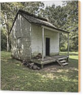 Oakley Plantation Slaves Quarters Wood Print