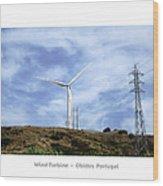 Obidos Wind Turbine II Portugal Wood Print