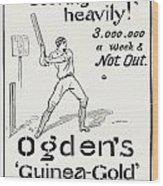 Ogdens Cigarettes, 1897 Wood Print