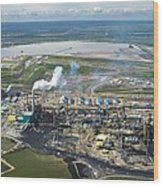 Oil Processing Plant, Athabasca Oil Sands Wood Print