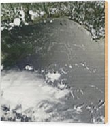 Oil Slick In The Gulf Of Mexico Wood Print