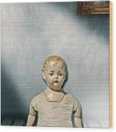 Old Doll Wood Print