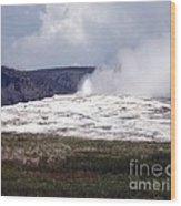 Old Faithful Wood Print