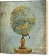 Old Globe Wood Print
