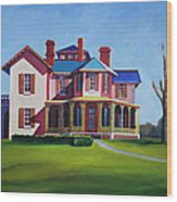 Old House Wood Print