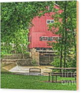 Old Indian Mill Wood Print