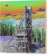 Old Mining Structure Wood Print