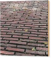 Old Red Brick Road Wood Print