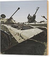 Old Russian Bmp-1 Infantry Fighting Wood Print