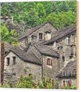 Old Rustic Village Wood Print