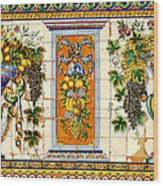 Old Spanish Tiles Wood Print