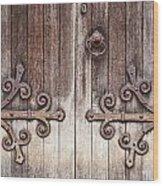 Old Wooden Door Wood Print