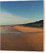 Omaha Beach At Dog One Wood Print