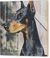 On Guard Wood Print by Rita Kay Adams
