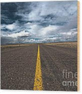 Open Highway Wood Print