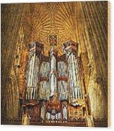 Organ Wood Print