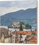 Orta - Overlooking The Island Of San Giulio Wood Print